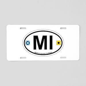 Marco Island - Oval Design. Aluminum License Plate