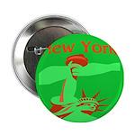 New York Christmas Button