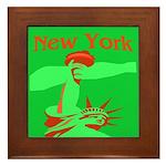 New York Christmas Framed Tile