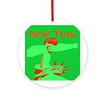 New York Christmas Ornament (Round)