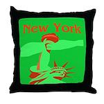 New York Christmas Throw Pillow