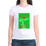 New York Christmas Jr. Ringer T-Shirt