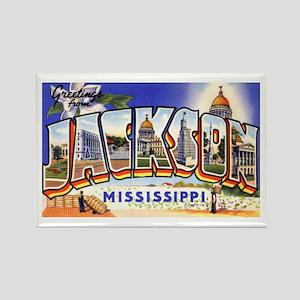 Jackson Mississippi Greetings Rectangle Magnet