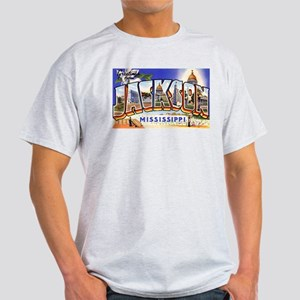 Jackson Mississippi Greetings (Front) Ash Grey T-S