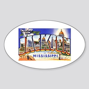 Jackson Mississippi Greetings Oval Sticker