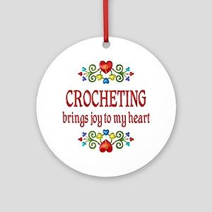 Crocheting Joy Ornament (Round)