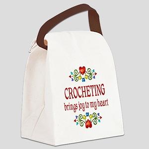 Crocheting Joy Canvas Lunch Bag