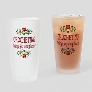 Crocheting Joy Drinking Glass