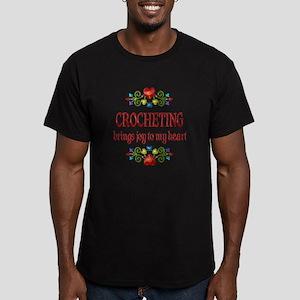 Crocheting Joy Men's Fitted T-Shirt (dark)