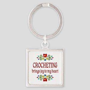 Crocheting Joy Square Keychain