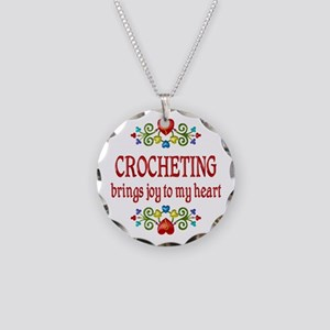 Crocheting Joy Necklace Circle Charm