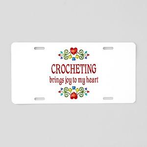 Crocheting Joy Aluminum License Plate