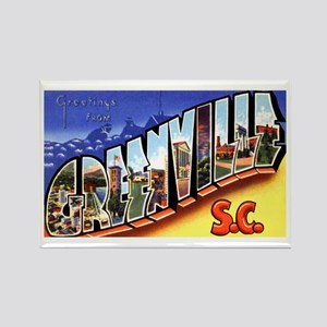 Greenville South Carolina Greetings Rectangle Magn