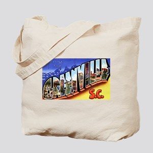 Greenville South Carolina Greetings Tote Bag