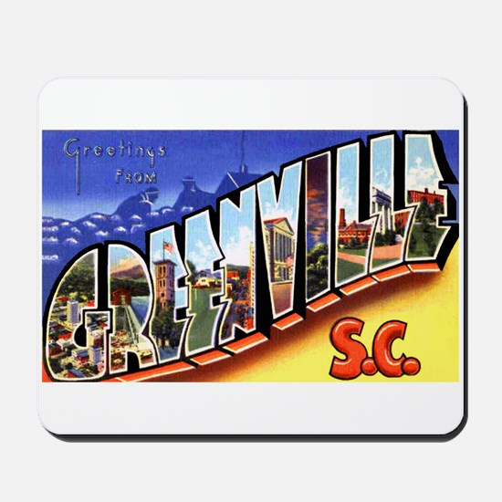 Greenville South Carolina Greetings Mousepad