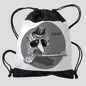 Dude Noir (B).png Drawstring Bag