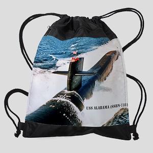 alabama small poster Drawstring Bag