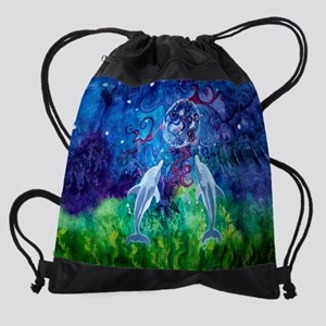 Dolphin Gaze Drawstring Bag