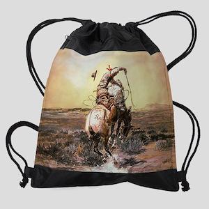 Wild West Vintage -Page1 Drawstring Bag
