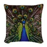 Peacock Woven Throw Pillow