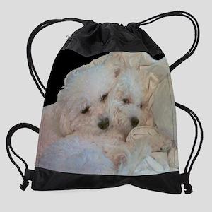 BICHONS IN LOVE Drawstring Bag