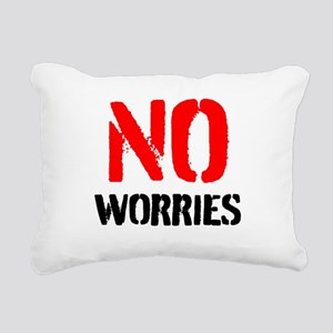 No worries Rectangular Canvas Pillow