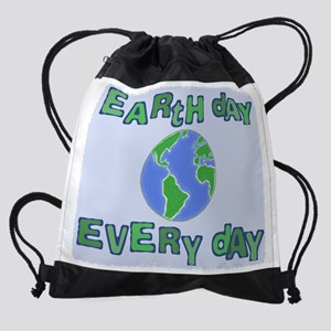 EarthDayEveryDay3 Drawstring Bag