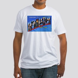 Rochester New York Greetings (Front) Fitted T-Shir