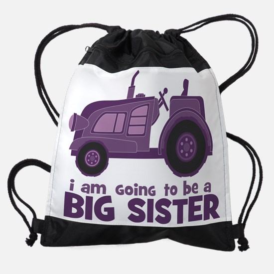 I am going to be a Big Sister - Tra Drawstring Bag