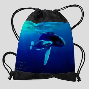 Mousepad Whales Under Sun Water Drawstring Bag