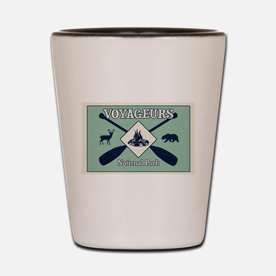 Voyageurs National Park Camping Shot Glass