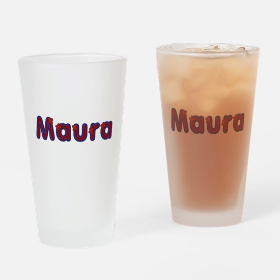 Maura Red Caps Drinking Glass