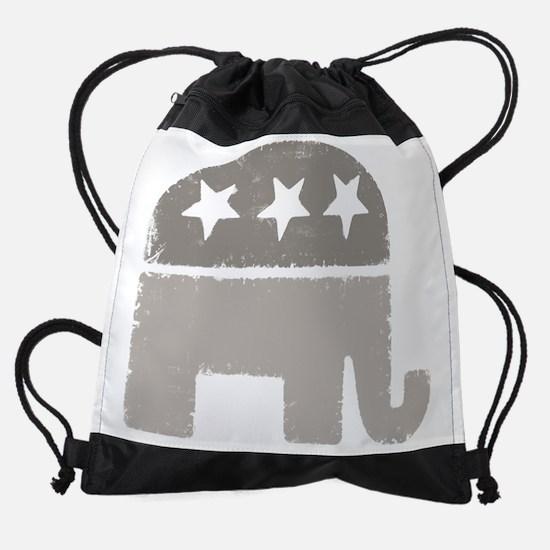 elephant gray.png Drawstring Bag