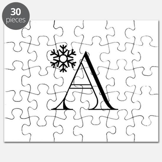 Winter Monogram A Puzzle
