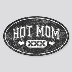 Hot Mom Sticker (Oval)