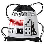 2-pushing-LUCK.jpg Drawstring Bag