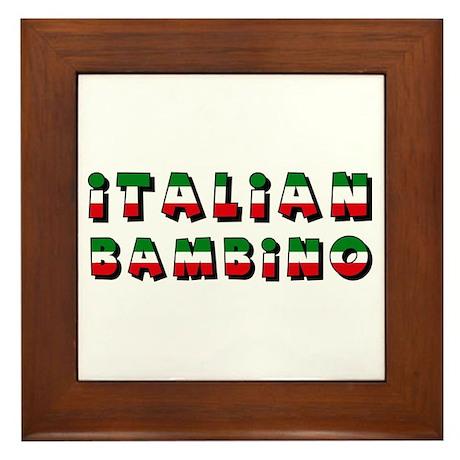 Italian bambino Framed Tile