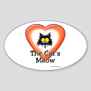 CAT'S MEOW - Oval Sticker