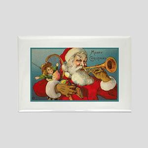 Merry Christmas Santa - Horn Playing Santa Rectang
