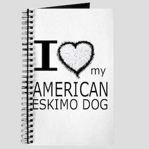 White Fur Heart Amer Eskimo Journal