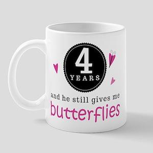 4th Anniversary Butterflies Mug