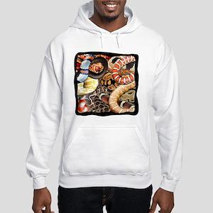 Snake Collage Hooded Sweatshirt