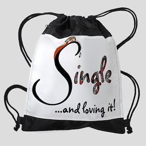 anti v-day 14 Drawstring Bag