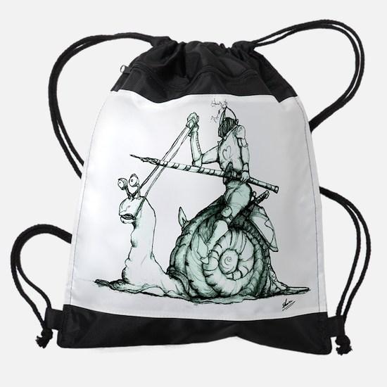 Snail Love Merge GOOD backlight gre Drawstring Bag