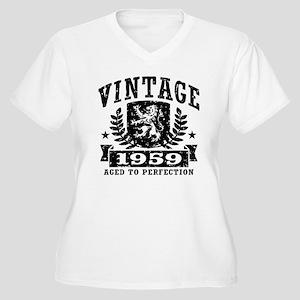 Vintage 1959 Women's Plus Size V-Neck T-Shirt
