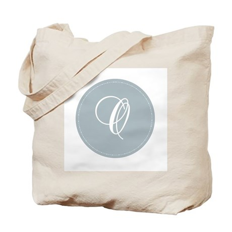 Grey Medallion Monogram O Tote Bag