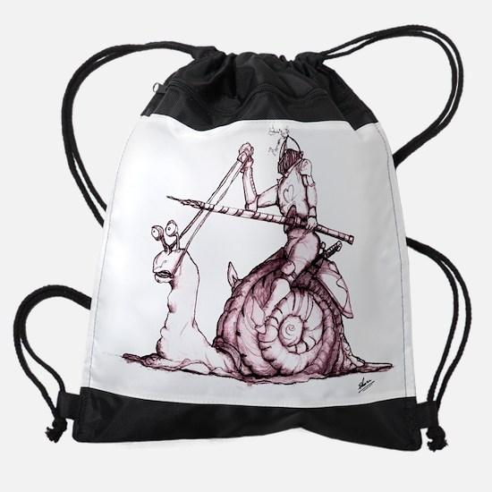 Snail Love Merge GOOD backlight ros Drawstring Bag