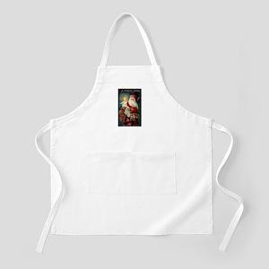 Santa holding Jesus BBQ Apron