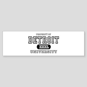 Detroit University Bumper Sticker