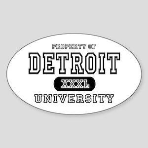 Detroit University Oval Sticker